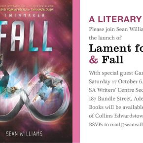 Double launch with Sean Williams this Saturday! Come one, come all!