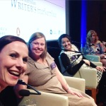 Panel selfie! Me, Alex, Lynette, and Diane